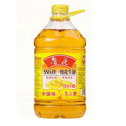 魯花 食用油 5S 物理壓榨 壓榨一級 花生油4L (新老包裝隨機發放)