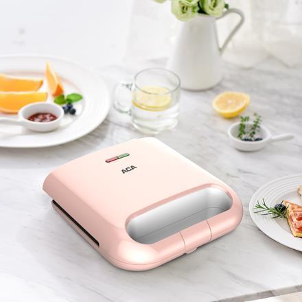 北美电器ACA家用双面加热煎烤机三明治机早餐机 ALY-75DB07J
