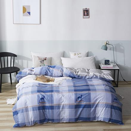 优斯漫-鹿先森精纺全棉套件T-Q19029    被套:200×230cm 床单:230×240cm 枕套:48×74cm×2