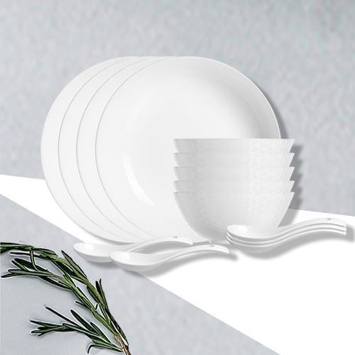 乐美雅祥云浮雕餐具14件套-邮购包装 LC-CJJ529
