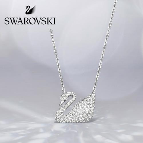 SWAROVSKI 施华洛世奇 银天鹅 SWAN 项链女 锁骨链女 七夕礼物 女友礼物 5007735