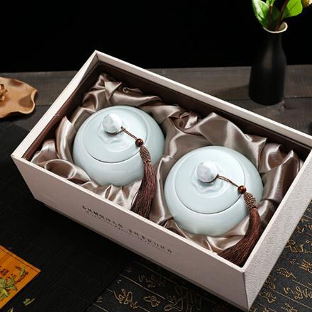 2020新茶 明前精品A龍井綠茶250g陶瓷禮盒裝西湖