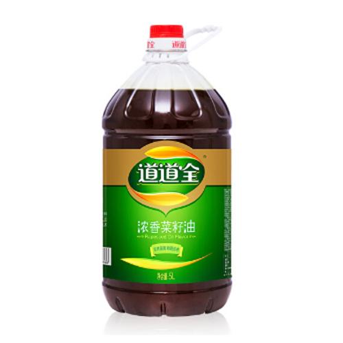 道道全食用油 濃香菜籽油5L 滴滴濃香 物理壓榨非轉基因食用油