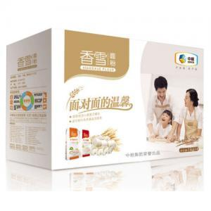中粮香雪面对面面粉礼盒4KG家用面粉多用途小麦粉筋爽饺子粉