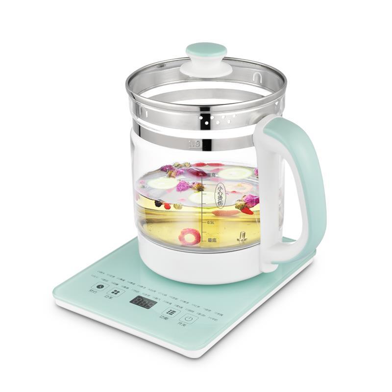 索洋智能養生壺 電水壺煮茶器熱水壺燒水壺電熱水壺迷你玻璃煮茶壺 1.8L SY-YS006
