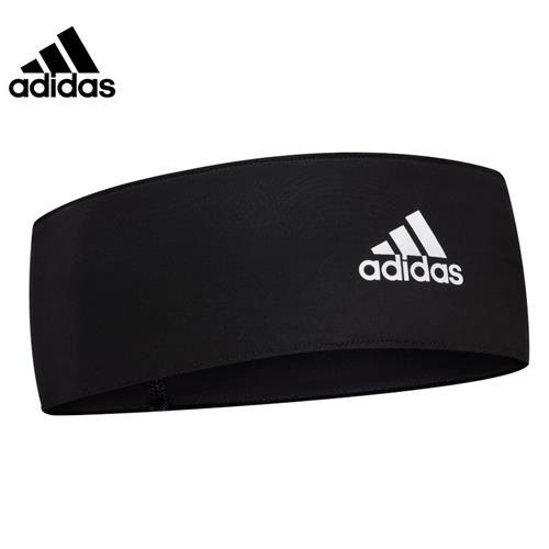 阿迪達斯(adidas)運動吸汗帶頭帶 男女通用發帶 網球籃球護額頭箍跑步頭巾導汗帶 ADAC-16211BK 黑色