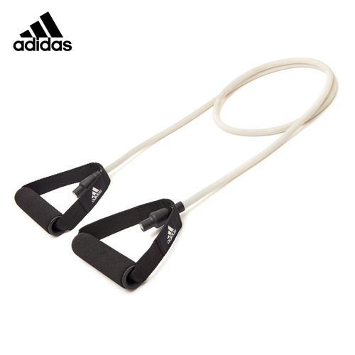阿迪達斯 拉力器家用運動拉力繩彈力帶一字健身乳膠彈力帶男力量訓練可調節彈力帶 米白色ADTB-10501