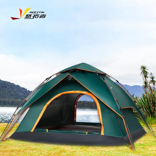 悠拓者 全自动速开帐篷 户外装备双人防雨防蚊免搭建野营3-4人套餐