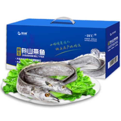 星龙港 舟山小眼睛带鱼 海鲜水产 整条舟山带鱼礼盒装 礼盒2.5kg(9-11条)