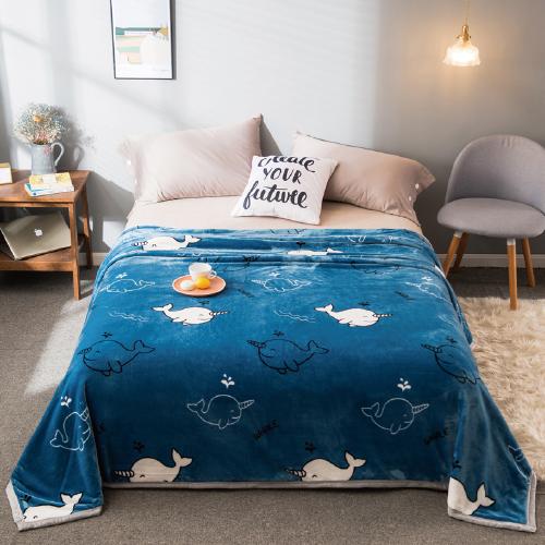 优斯漫牛奶绒毯 办公室午睡牛奶绒盖毯宿舍单人双人床单被子团购礼品  泫雅牛奶绒毯200X230cm