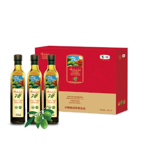 中粮安达露西亚橄榄油礼盒235ml*3瓶