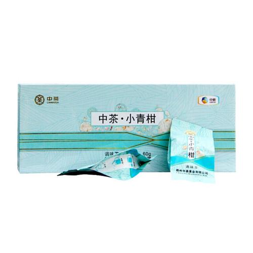 中粮中茶牌 生晒新会小青柑 广西梧州六堡茶茶叶礼盒小青柑六堡茶盒装60g