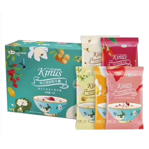 中粮可兰纳斯Kinus混合口味冻干银耳羹礼品团购 Kinus冻干银耳羹75g