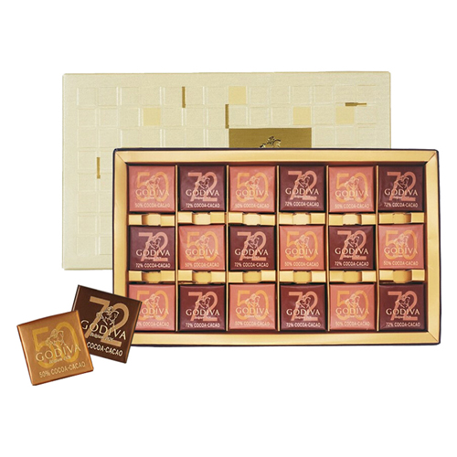 顺丰配送 进口GODIVA歌帝梵巧克力定制款礼盒 节日生日送礼物 商务片装巧克力礼盒18片装