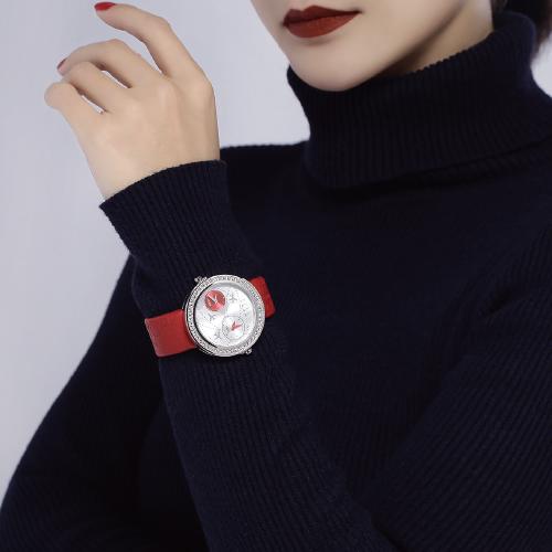 ELLE Jetlag系列时尚镶钻女表EL20038S30C