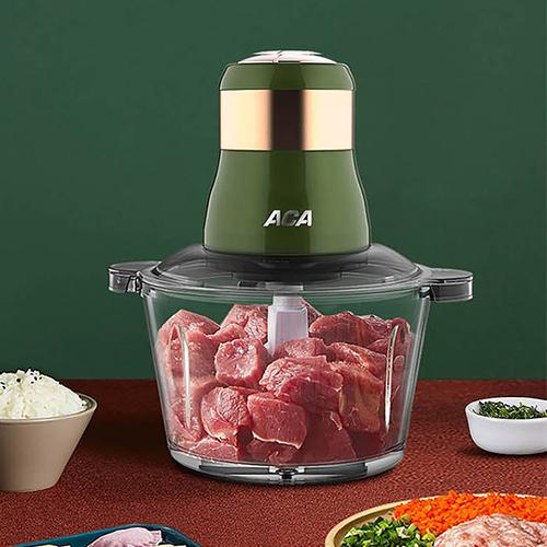 ACA绞肉机家用电动1.8L不锈钢多功能料理机碎肉打肉切碎搅拌机  ALY-18QS01J