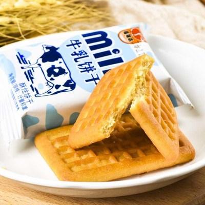 牛乳饼干牛奶早餐炼乳儿童代餐整箱500g