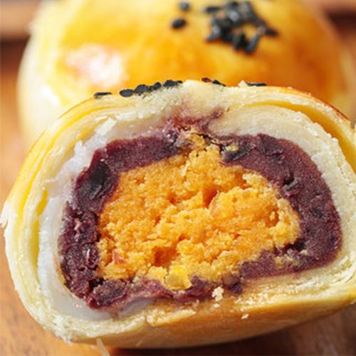 味哲雪媚娘蛋黄酥330g蛋黄红豆糕点心6枚盒装网红早餐办公室小吃