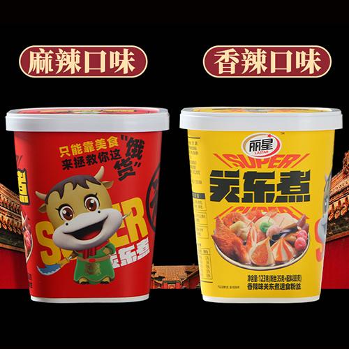 丽星关东煮123g*12桶装方便面粉丝米线酸辣粉即食火锅麻辣烫速食(香辣)