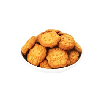 佬食仁 椰香小熊饼干 400g彩盒装 儿童零食饱腹早餐代餐饼干办公动物熊字饼整箱 椰子味 400g(约16小包)