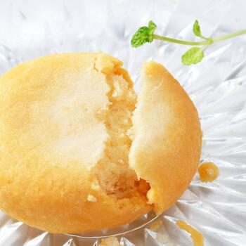 佬食仁 和风の椰蓉烧椰奶饼整箱200g/盒6枚装休闲零食早餐饼干糕点 【椰奶味】200g/箱