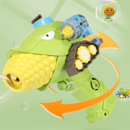 植物大战僵尸自动吹泡泡机玩具网红儿童手持电动加特林枪器不漏水 电动泡泡枪699-1