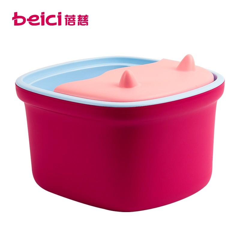 蓓慈(BEICI)BZ306B1 泡脚盆泡脚桶家用塑料按摩洗脚盆足浴桶三层保温 红色