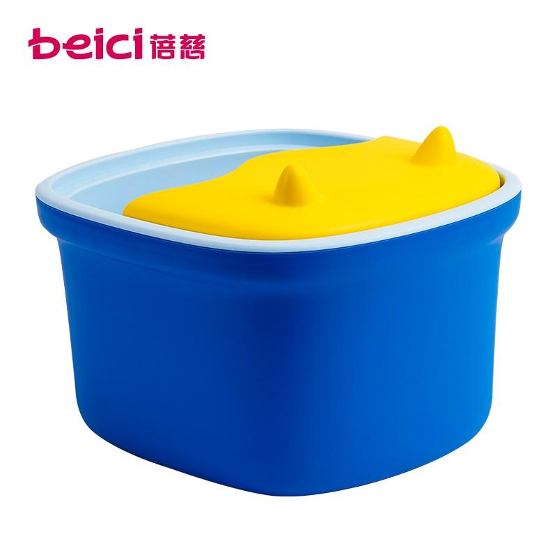 蓓慈(BEICI)BZ306B2 泡脚盆泡脚桶家用塑料按摩洗脚盆足浴桶三层保温 卡波蓝