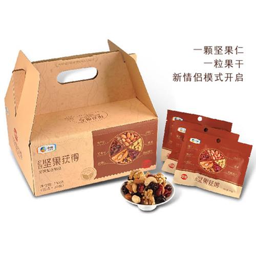 中粮屯河每日坚果获得750g混合果仁30天装办公室小零食 每日坚果获得(30天装)