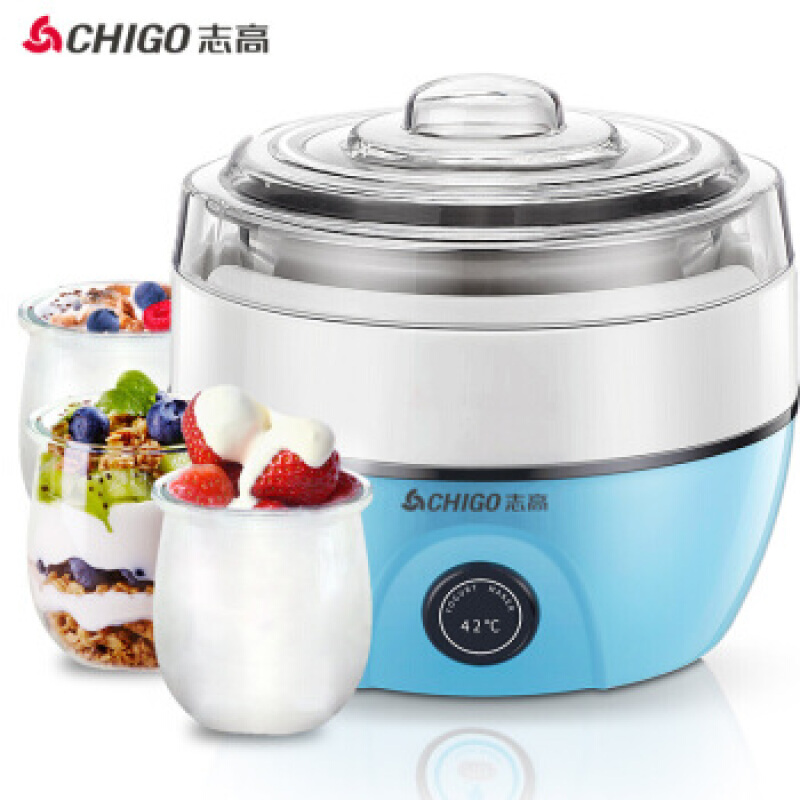 志高(CHIGO)酸奶机家用全自动恒温发酵304不锈钢内胆ZG-L102 304钢胆1L