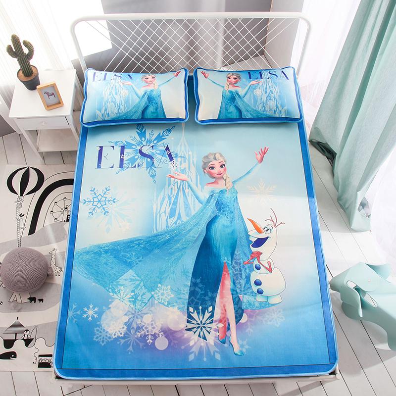 艾莎女王 蓝 数码冰丝席  150cmX200cm