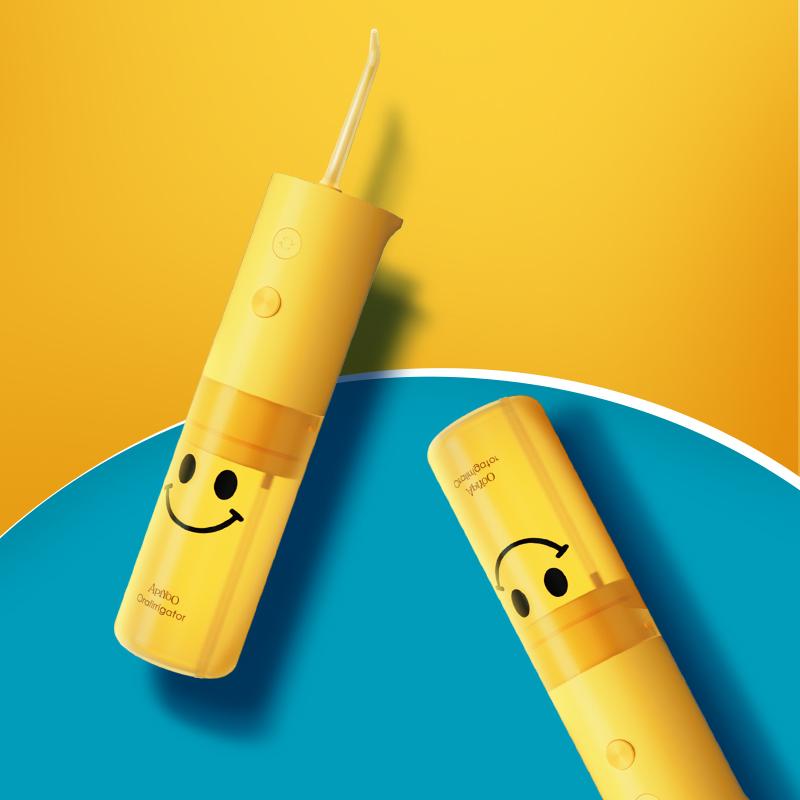 ApiYoo艾优冲牙器 电动洗牙器手持水牙线 牙结石口腔冲洗器 家用便携式 X8笑脸款