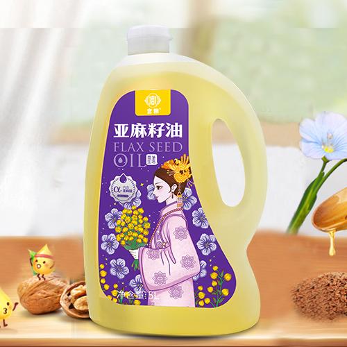 宫粮亚麻籽油5L