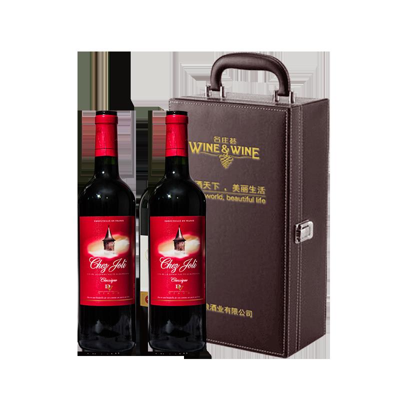 中粮法国进口一雷沃庄园诗伽俐干红葡萄酒750ml*2瓶